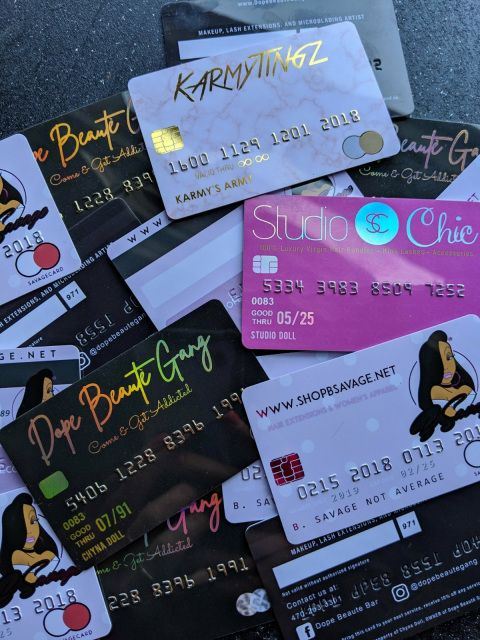 Plastic Credit Card Business Cards With Embossed Numbers Plastic Business Cards Beauty Business Cards Hair Business Cards