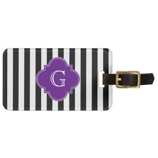 >>>Low Price Guarantee          	Black White Stripes, Purple Label Monogram Travel Bag Tag           	Black White Stripes, Purple Label Monogram Travel Bag Tag in each seller & make purchase online for cheap. Choose the best price and best promotion as you thing Secure Checkout you can trust Buy...Cleck Hot Deals >>> http://www.zazzle.com/black_white_stripes_purple_label_monogram_luggage_tag-256577419247266487?rf=238627982471231924&zbar=1&tc=terrest