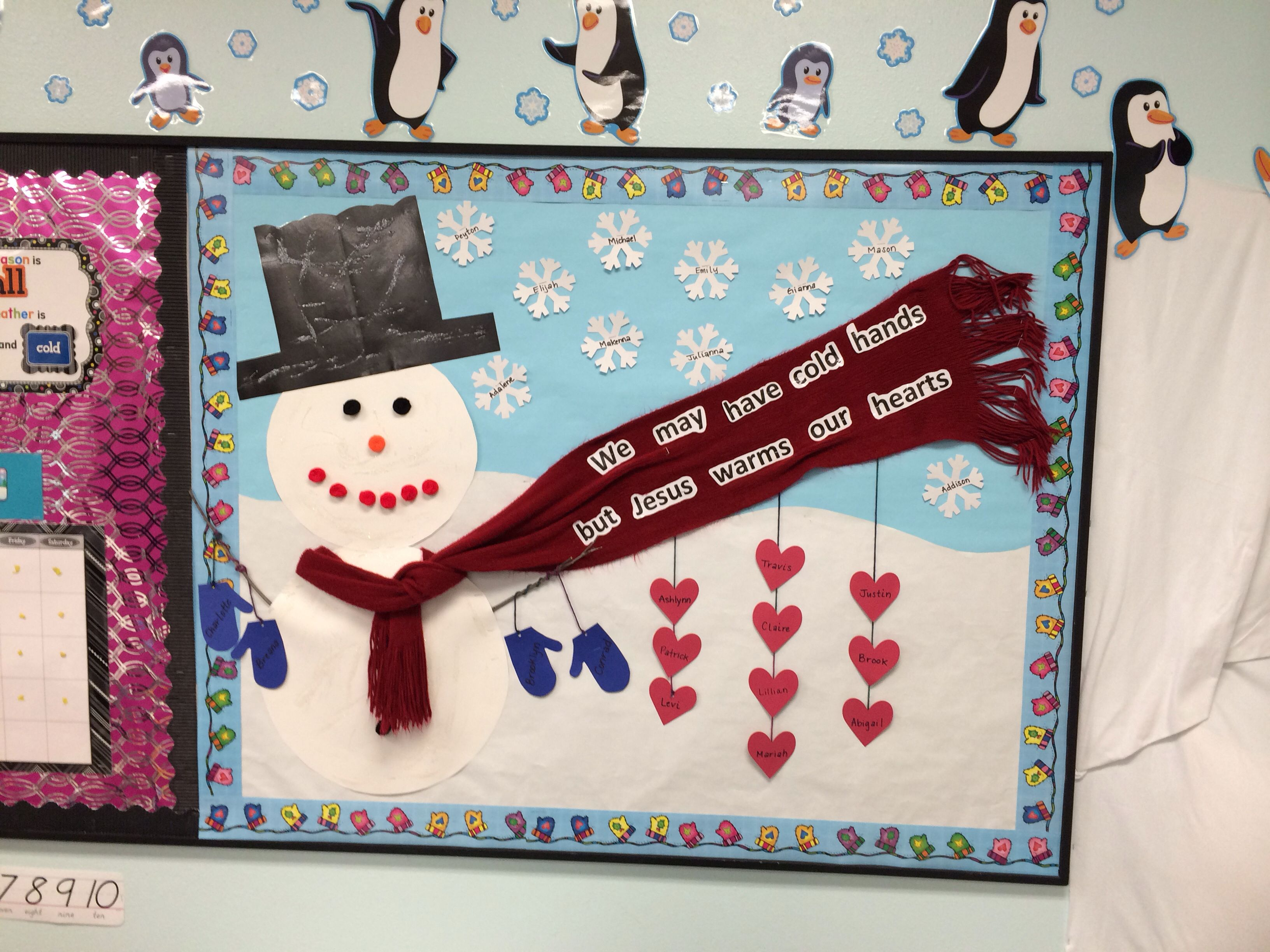 Snowman For Winter Bulletin Board In Ms Description From