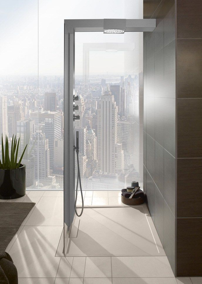 Download The Catalogue And Request Prices Of Squaro Super Flat By Villeroy Boch Flush Fitting Quaryl Shower Tra Shower Tray Luxury Bathroom Villeroy Boch