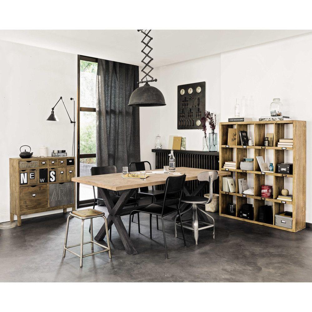 Fir Storage Cabinet Pequenso Escritórios Mango Wood