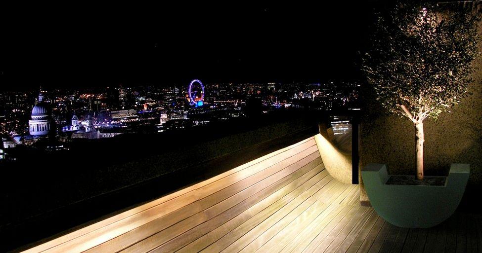 view modern house lights. Garden, Garden Balcony Modern Hill House Lighting With City View Ideas: Interesting Roof Gardens Lights