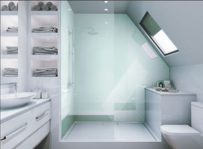 Reflect Aqua Acrylic Panel by Multipanel | Bathroom | Pinterest ...