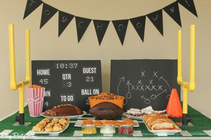 Football Party Ideas Superbowl Party Decorations Football Party Decorations Diy Football Party
