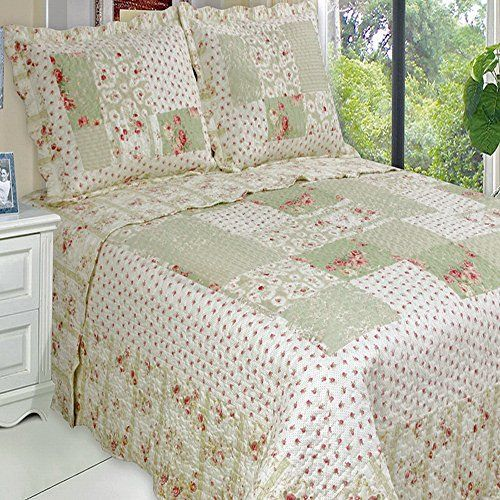 Robot Check Bed Spreads Quilted Coverlet Oversized Quilt