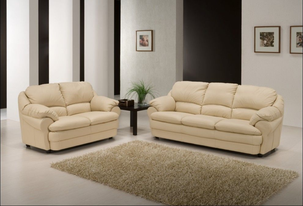 Bon Cream Leather Sofas | Modern Sofa Bed UK