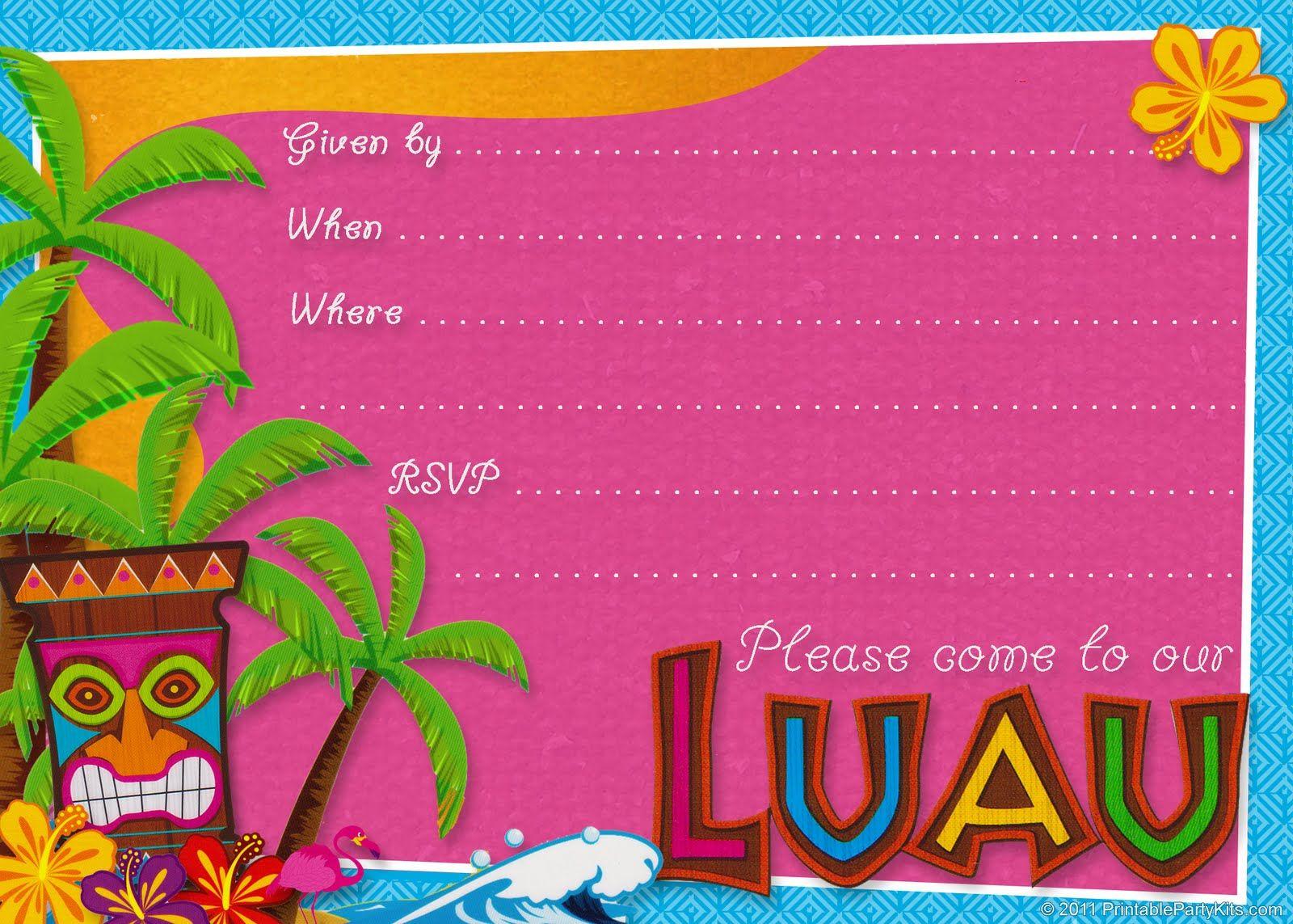 luau flyer template free seatle davidjoel co
