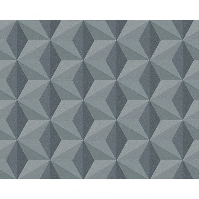 AS Creation Square Pattern Triangle Geometric Faux 3D ...