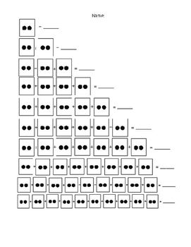 Dot card worksheets for pre-multiplication and repeated