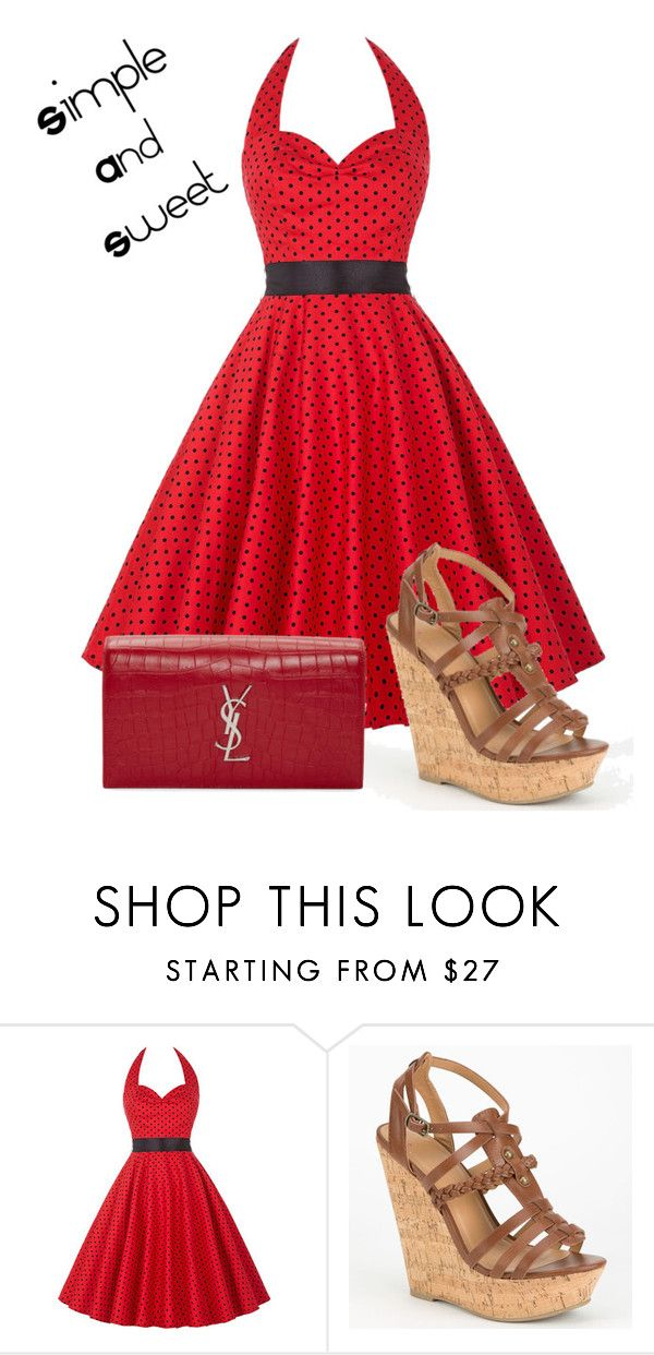"""""""Simple and Sweet"""" by eguttenberg ❤ liked on Polyvore featuring Delicious and Yves Saint Laurent"""
