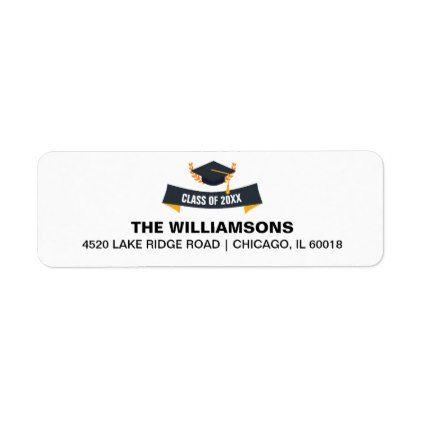 graduation cap class of 2018 custom return address label return