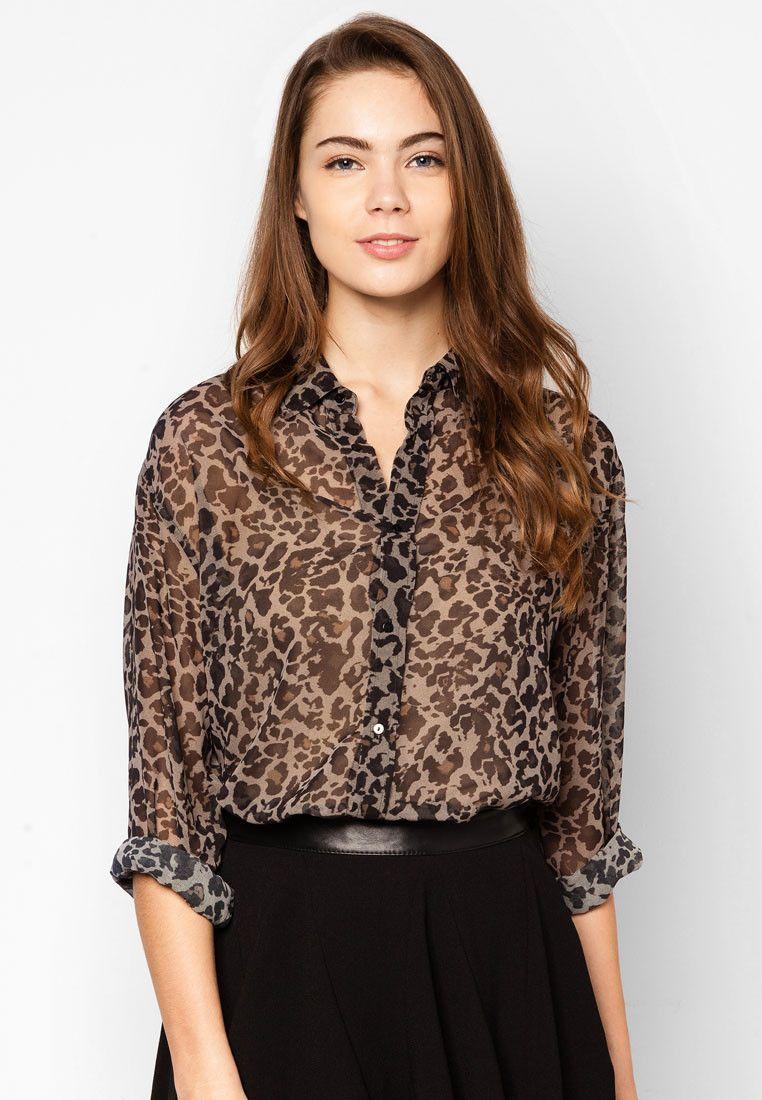 1d3b6a6918 Molsa Leopard Print Blouse - Mango - Buy Online at ZALORA PH Corporate  Chic