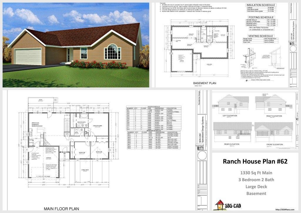 1330 Sq Ft House Design 10 House Plans Http Housecabin Com Architectural House Plans House Plan Maker Free House Plans