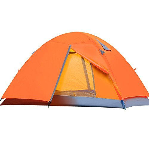Outry C&ing Tent 2 Person Double Layer Aluminum Poles Lightweight Hiking Tent Orange ** Want  sc 1 st  Pinterest & Outry Camping Tent 2 Person Double Layer Aluminum Poles ...