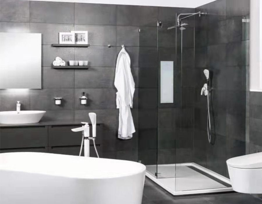 Walkin Showerenclosure Ab 4344 There Is Then An Optional End Panel For The Other Side Of Framed Shower Enclosures Corner Shower Enclosures Shower Enclosure