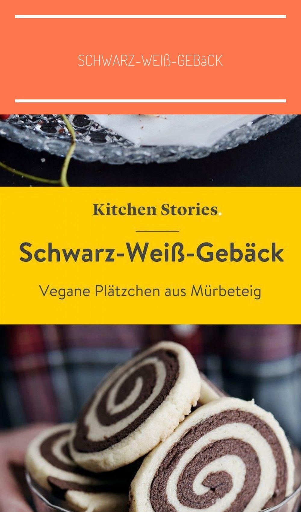 In der #Weihnachtsbäckerei: Schwarz-Weiß-#Gebäck aus veganem Mürbeteig! Tolle #Kekse, die sich wunderbar als Nascherei zur #Weihnachtszeit oder als liebevolles Geschenk für deine Liebsten eignen. Einfach, lecker und dazu auch noch vegan! #Rezept #Backen #backen vegan kekse Schwarz-Weiß-Gebäck   Rezept mit Video   Kitchen Stories