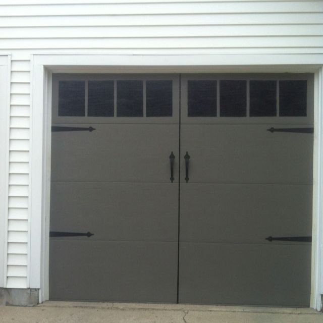 Painted My Garage Doors To Look Like Carriage Doors Garage Doors Garage Door Styles Grey Garage Doors