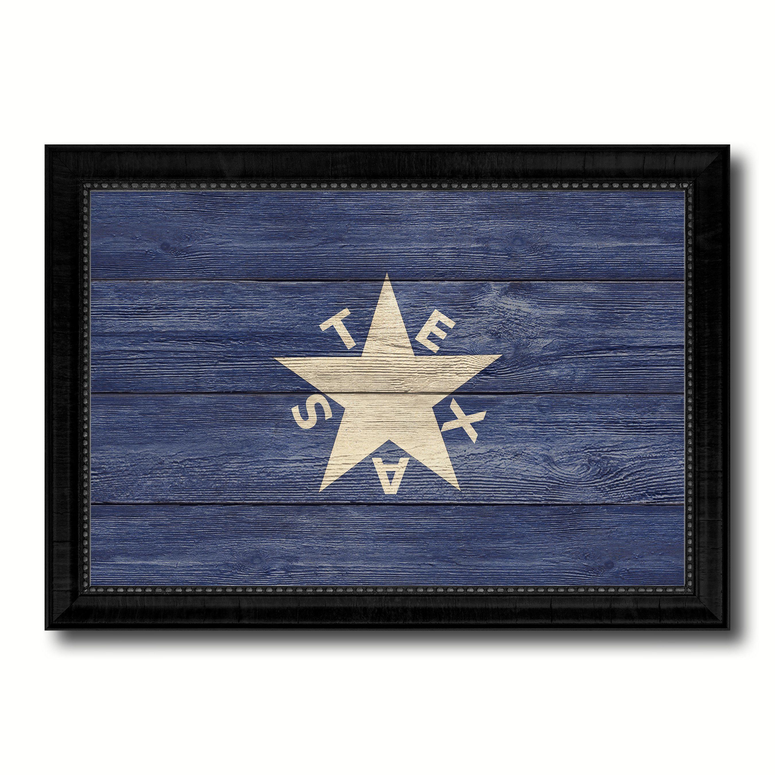 Texas History Lorenzo De Zavala Military Flag Texture Canvas Print ...