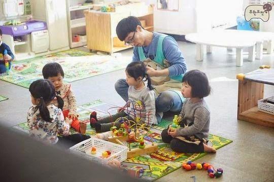 Infinity Challenge Members Turn Into Daycare Center Teachers Infinity Challenge Kids Around The World Korean Tv Shows