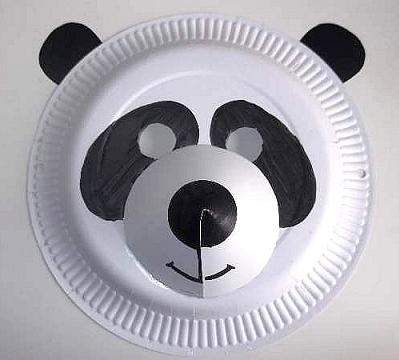 paper plate panda mask : lion mask craft paper plate - pezcame.com