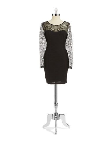 Women's | Dresses | Arielle Textured Knit Dress | Hudson's Bay Guess
