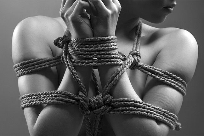 Woman being domination