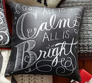 $29.50. All is Calm All is Bright Pillow Cover #potterybarn