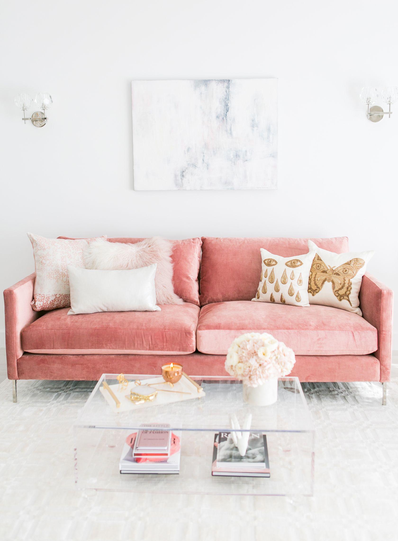 Blush Living Room Decor Redecorating Design Pink Living