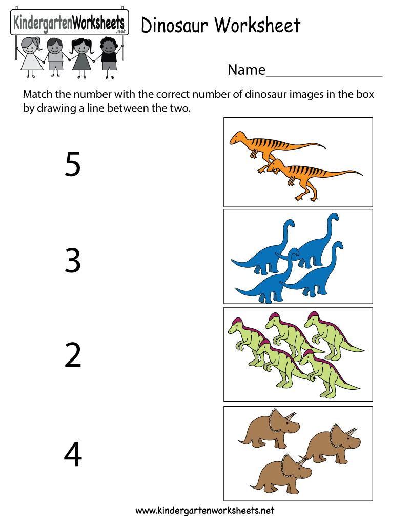 Fun dinosaur numbers worksheet for preschool and kindergarten kids ...