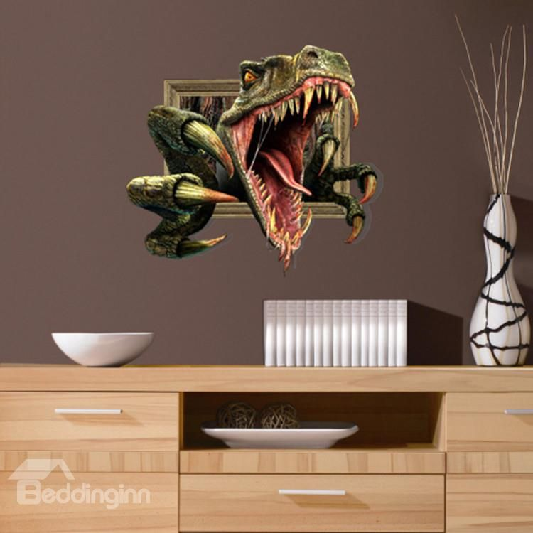 3d Dinosaur Wall Art stunning 3d dinosaur pattern wall sticker | wall sticker, dinosaur