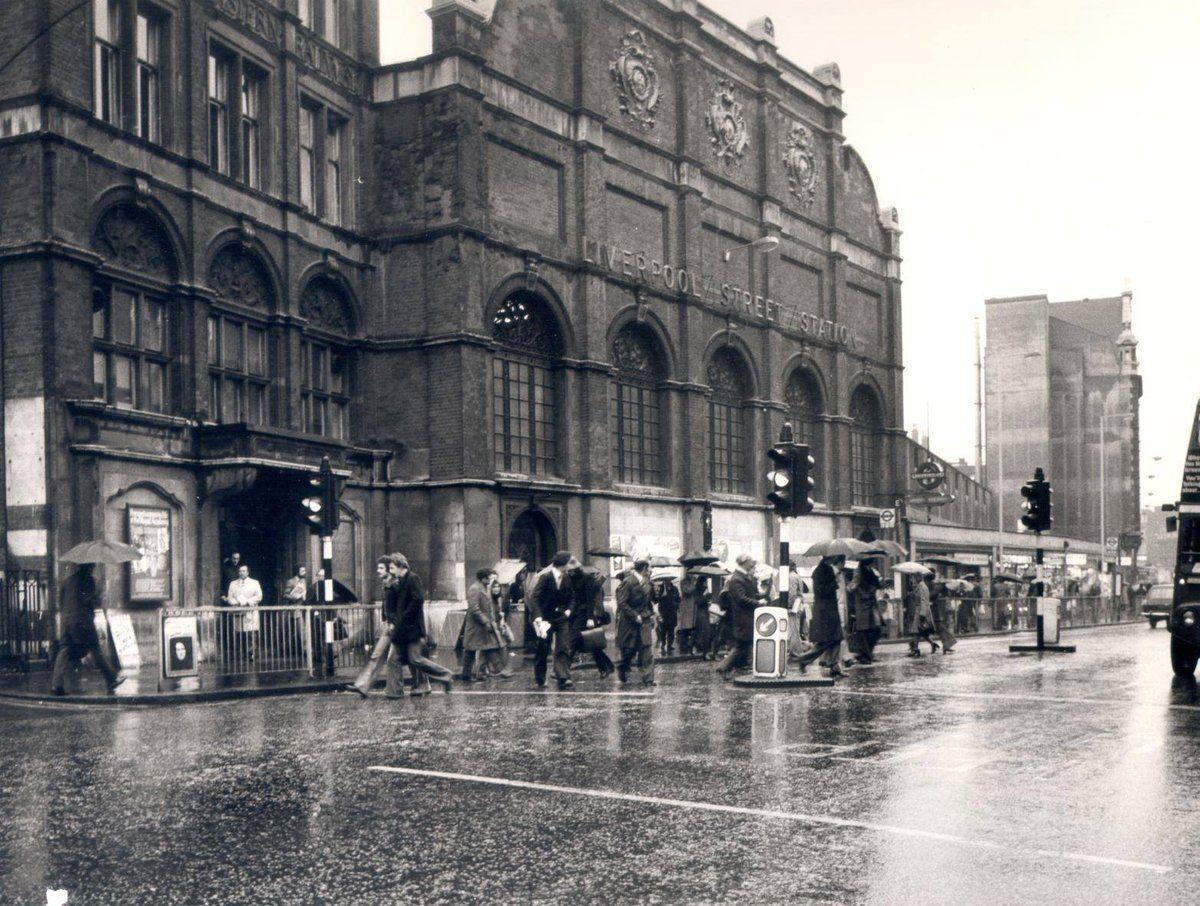 Liverpool Street Station Bishopsgate London 1970s Old London