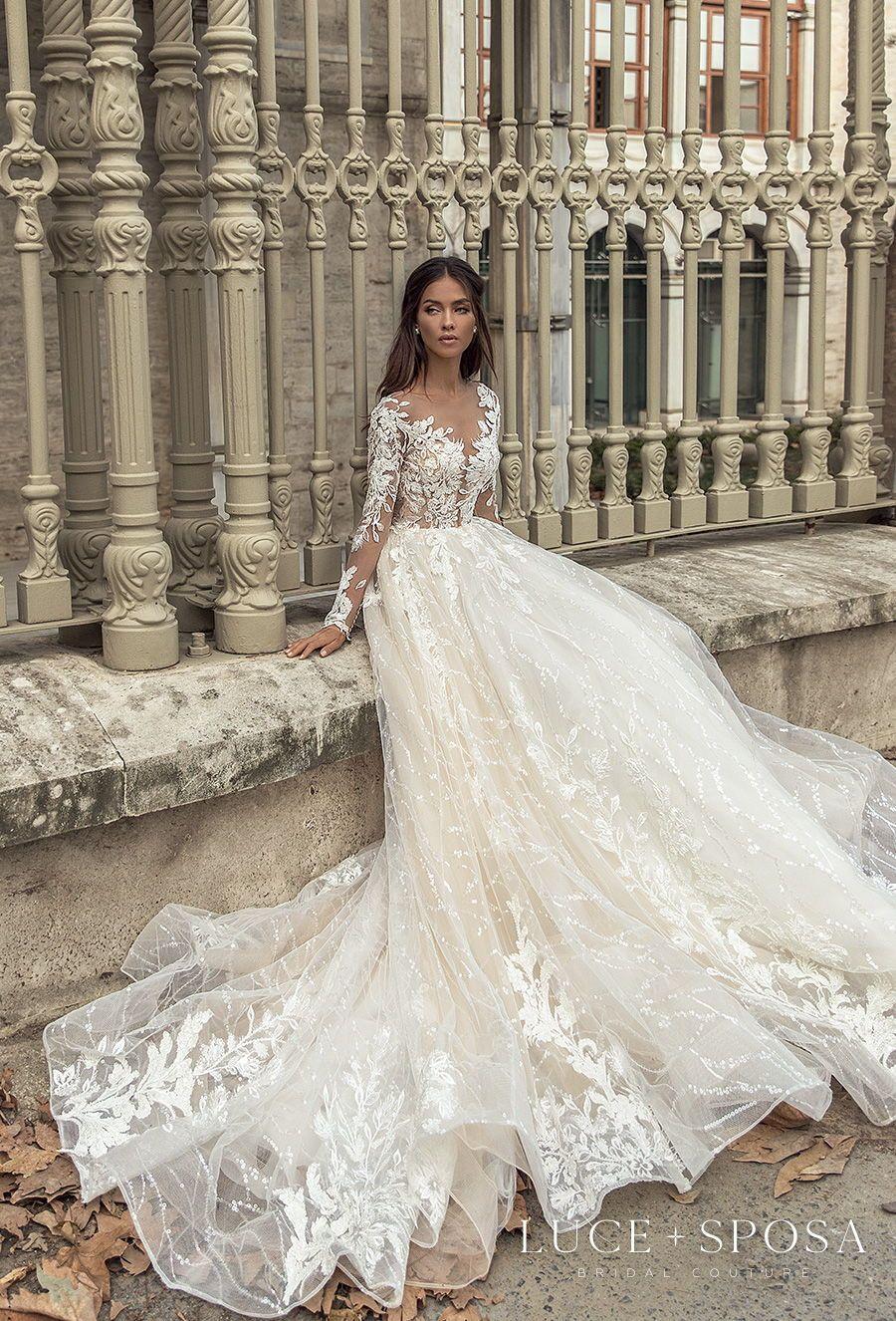 Luce Sposa Spring Summer 2021 Wedding Dresses Istanbul Paris Bridal Collections Wedding Inspirasi Wedding Dresses Boho Wedding Dress Lace Minimalist Wedding Dresses [ 1326 x 900 Pixel ]