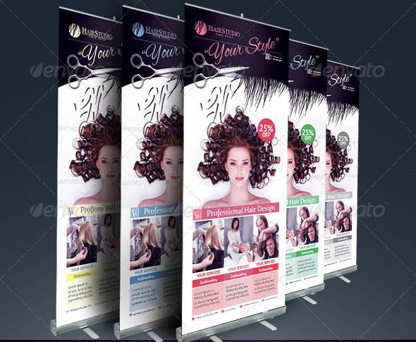 nice 19 Cool Hair Salon Banner \ Signage PSD Design Pinterest - hair salon flyer template