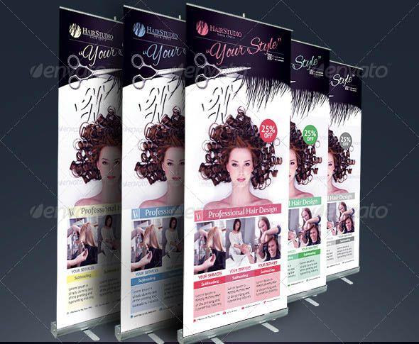 Nice 19 Cool Hair Salon Banner Signage Psd Hair Salon Cool Hairstyles Banner