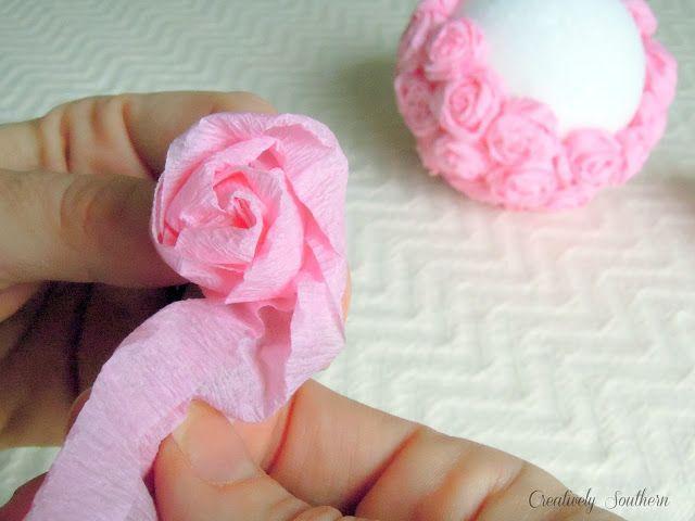 Crepe paper flowers craft idea wedding pinterest crepe paper crepe paper flower balls mightylinksfo