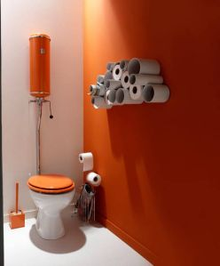 Orange Leroy Merlin Deco Toilettes Deco Toilettes Originales Idee Deco Toilettes