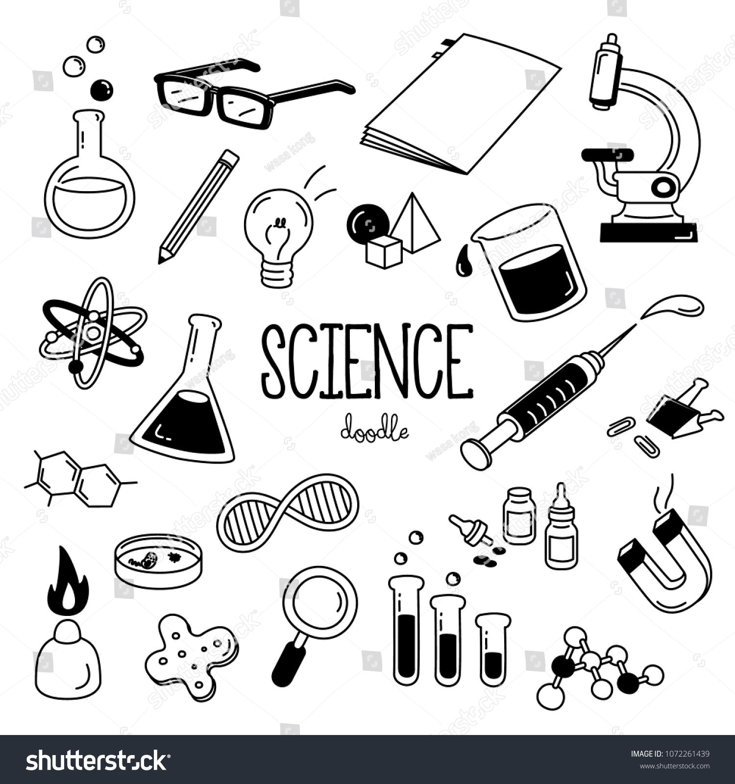Science Doodle Hand Drawing Styles For Science Objects