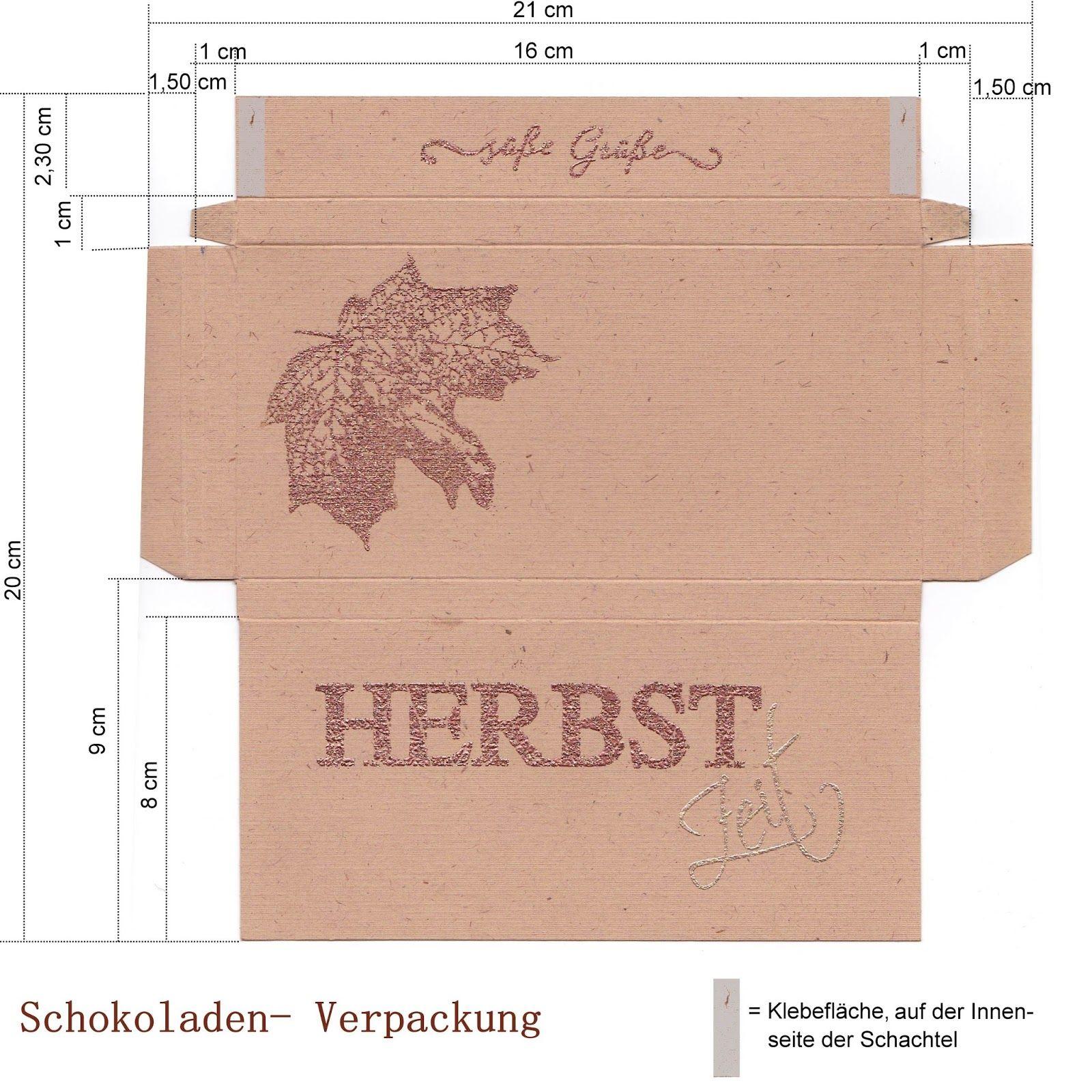 creative-depot: Bastelvorlage für Schokoladen-Verpackung | kreativ ...