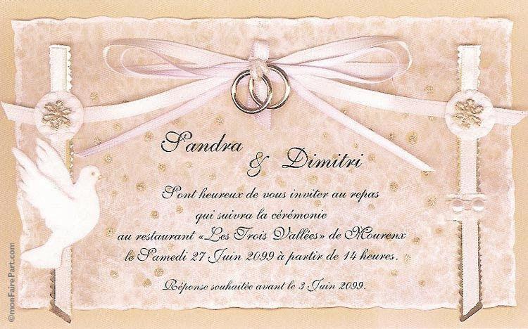 carte invitation mariage lovely modele