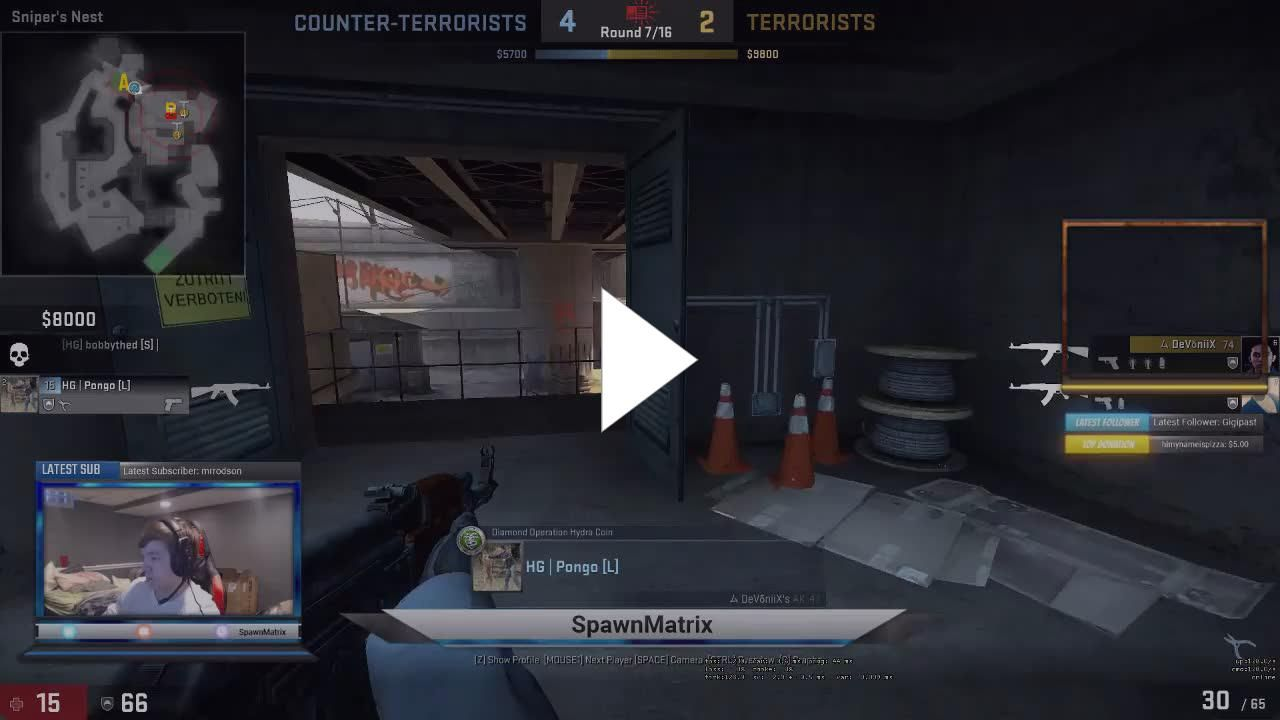 Lots of skill in a 2v2 tournament #games #globaloffensive #CSGO