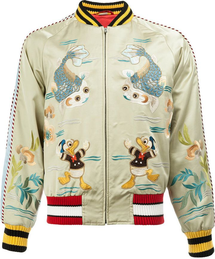 d53c67b25b4 Gucci Donald Duck bomber jacket