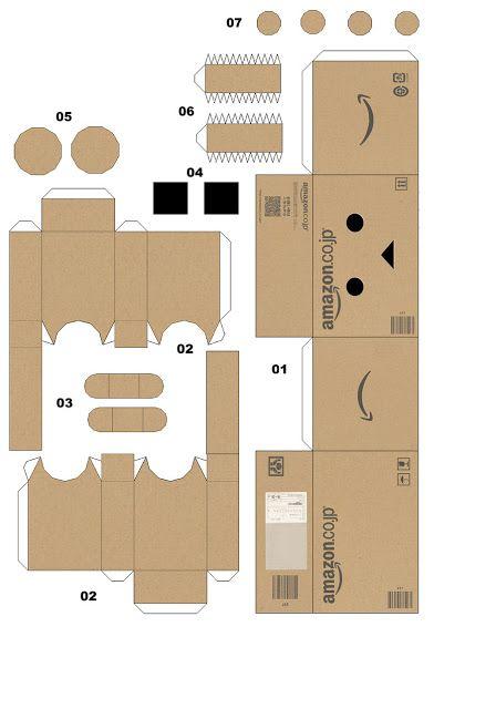 Cara membuat Danbo boneka kardus penuh ekspresi Paper Robot b833377153