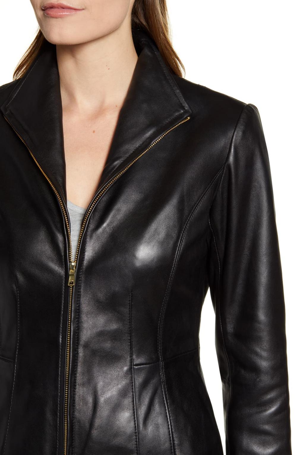 Cole Haan Lambskin Leather Jacket Nordstrom Lambskin Leather Jacket Leather Jacket Leather Coat Jacket [ 1533 x 1000 Pixel ]