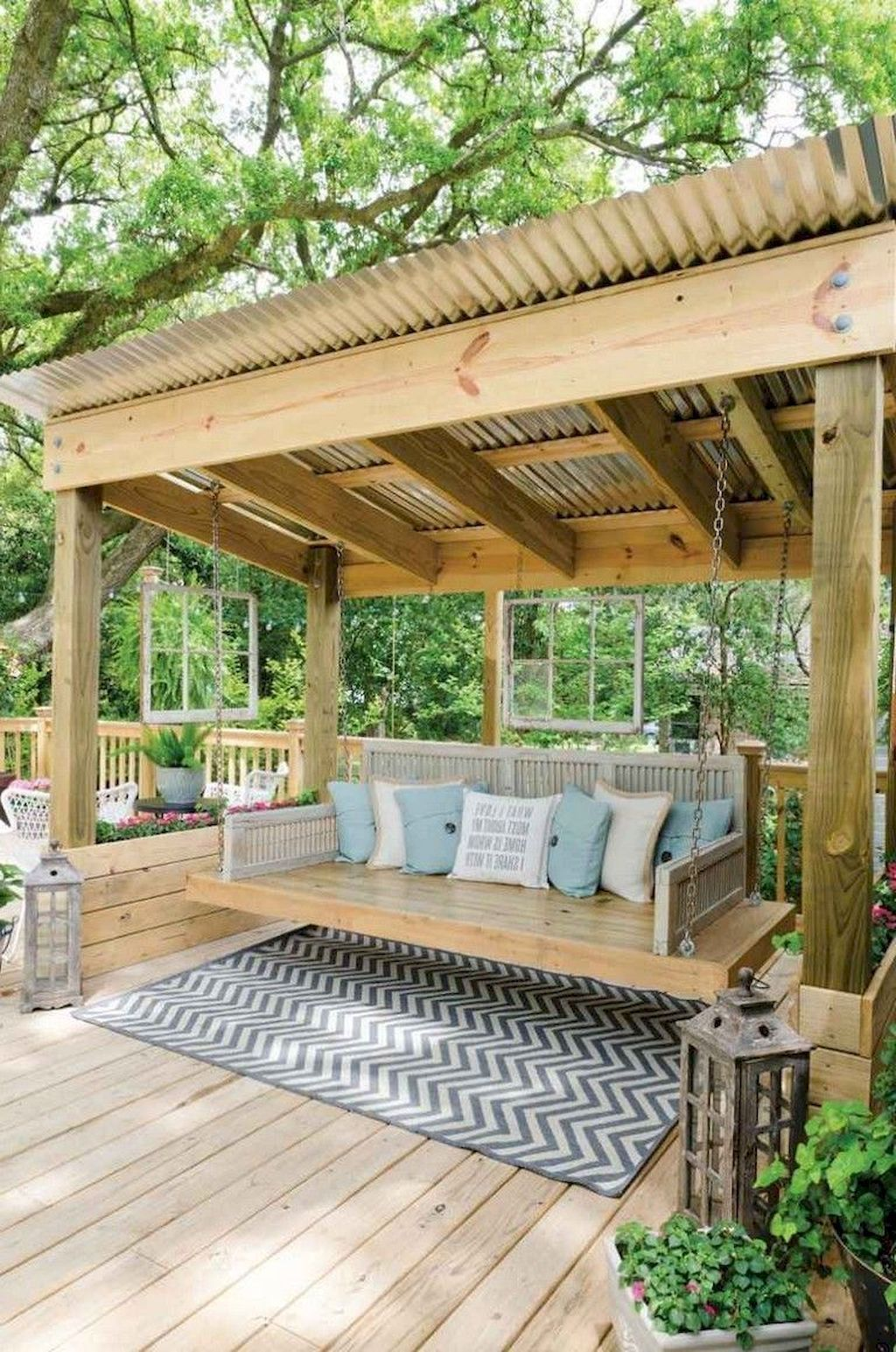 20+ Comfy Spring Backyard Ideas With A Seating Area that Make You Feel Relax