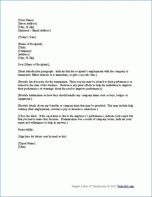 employment separation letter template the sample notice free word - separation notice template