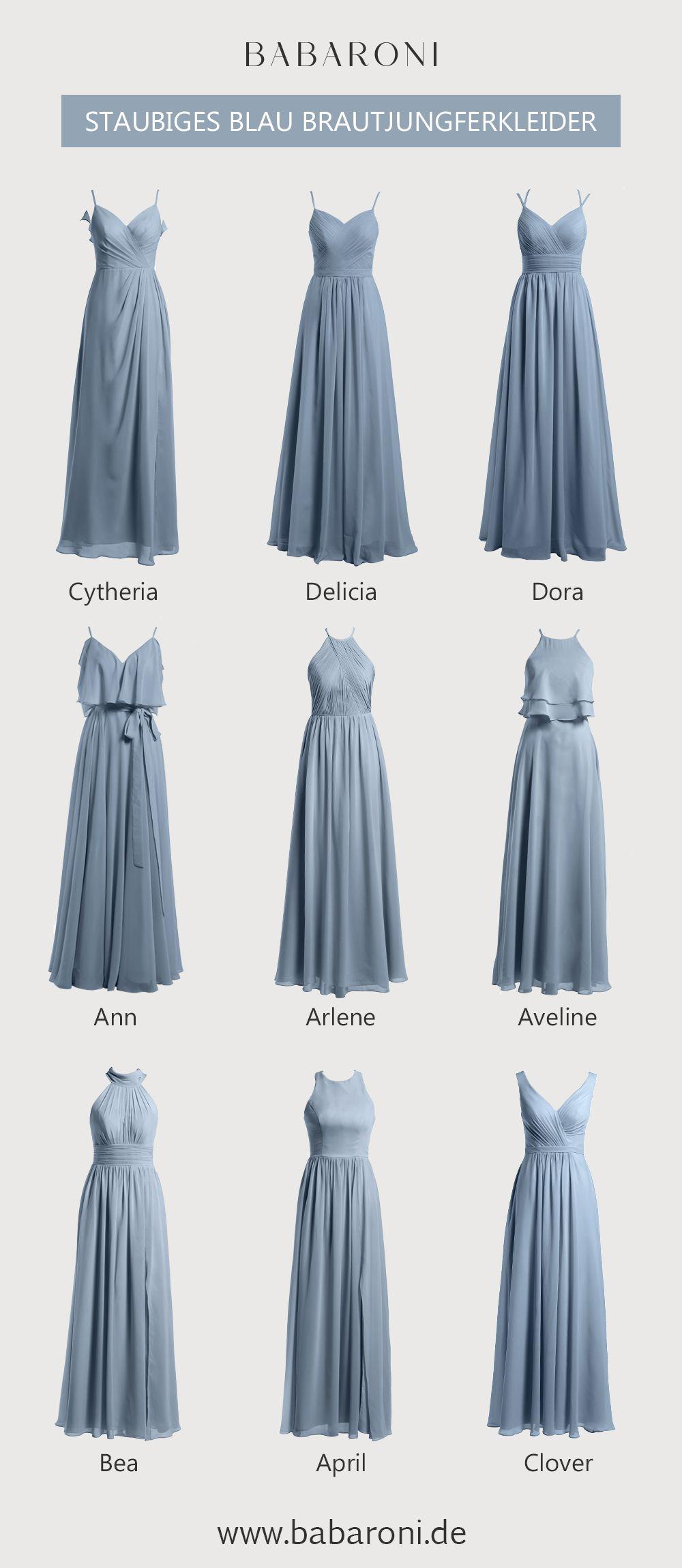 brautjungfernkleider | blaues brautjungfernkleid, elegante