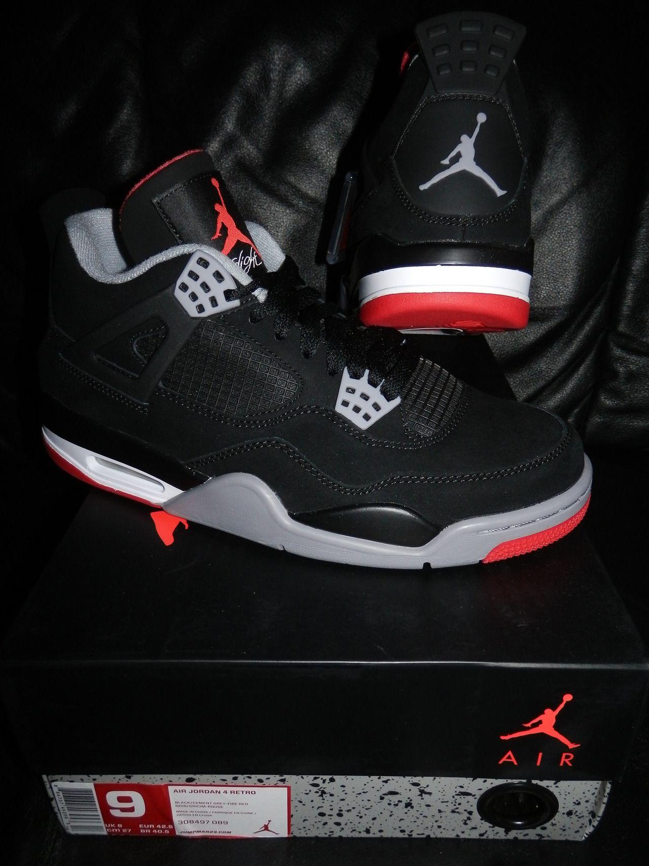 Nike Air Jordan IV Bred 9 US DS 150 € +