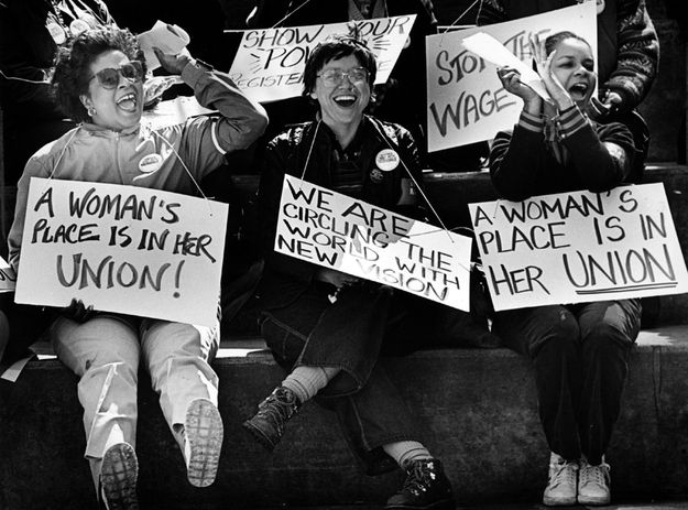 Bakery Confectionary And Tobacco Union Protest 1984 Day And Mood Workers Rights Female Images