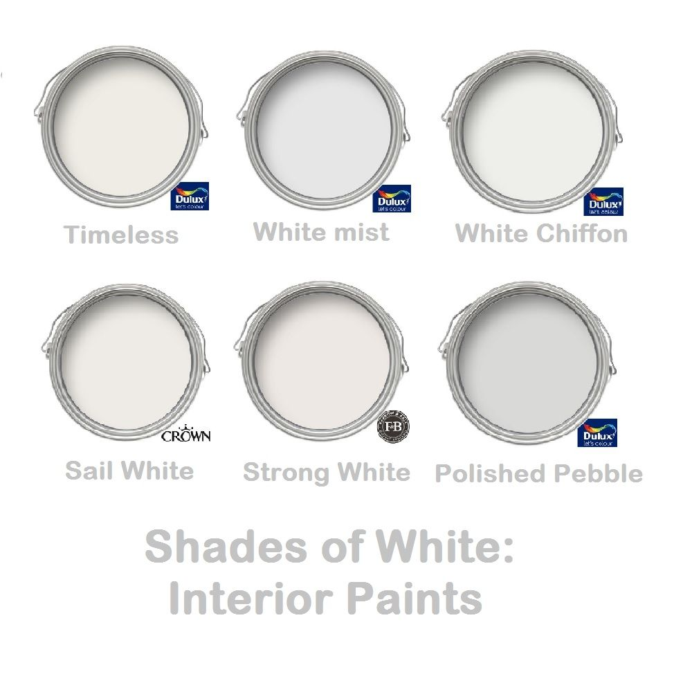white paint colours interior paints in shades of white and grey
