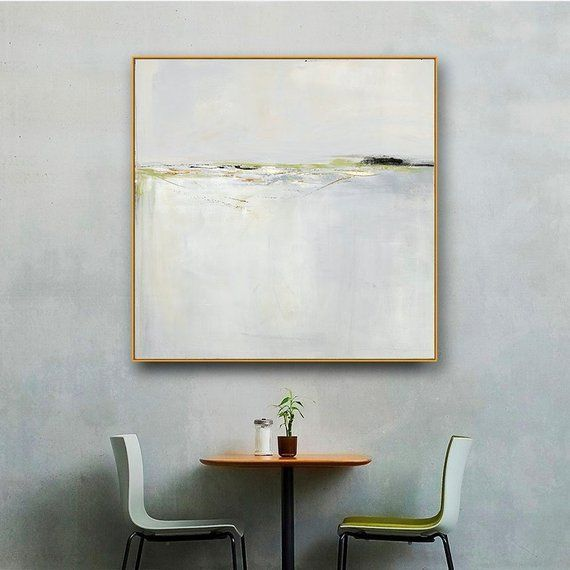 75523a5245cb Large Gold Framed Abstract Landscape Art